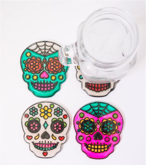Sugar Skull Coasters DIY