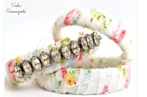 DIY Upcycled Fabric Bracelets