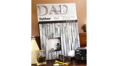 Farmhouse Chic Weathered Wood Frame for Father's Day