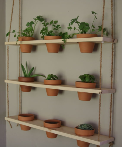 DIY Herb Planter Wall