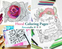 16 Floral Coloring Pages