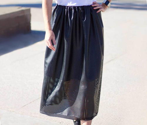 Vogue Vinyl Skirt Tutorial
