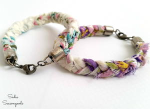 DIY Upcycled Braided Bracelets