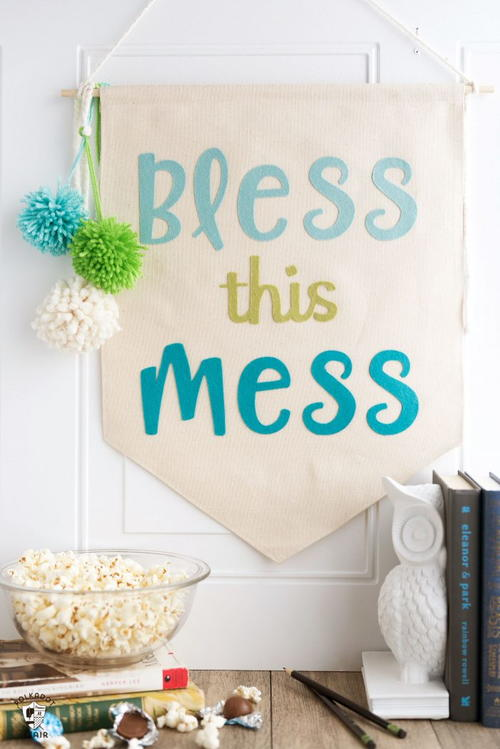Bless This Mess DIY Dorm Banner