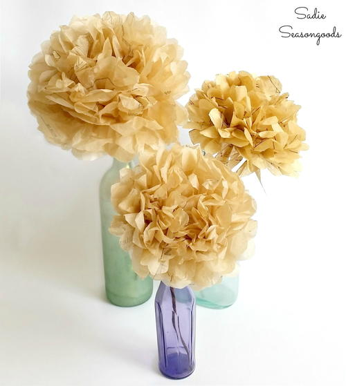 How to Make Paper Flowers from Sewing Patterns