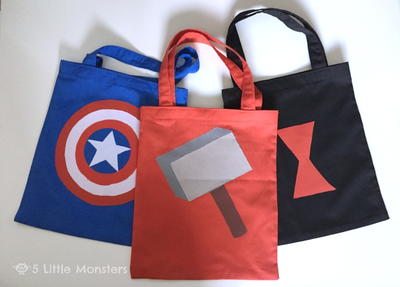 Avengers-Inspired Trick-Or-Treat Bag Patterns