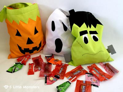 Halloween Character Trick-Or-Treat Bag Patterns
