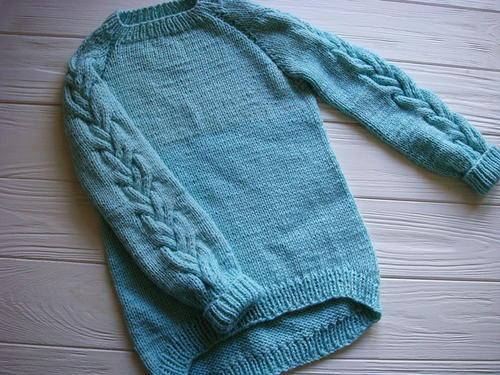 42c82c538dc515 Top Down Sky Blue Raglan Sweater