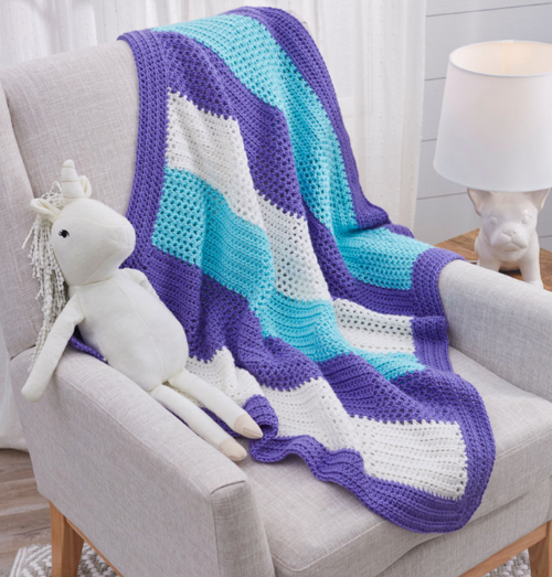 Sweet Squares Adorable Crochet Baby Blanket Pattern