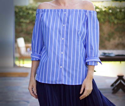 Off-the-Shoulder Refashioned Blouse Tutorial