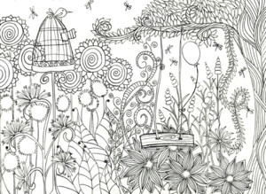 Magical Flower Garden Coloring Page Favecrafts Com