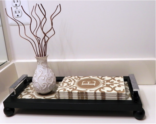 DIY Picture Frame Guest Towel Tray