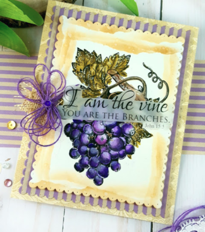 I Am the Vine Religious Stamps Card Design
