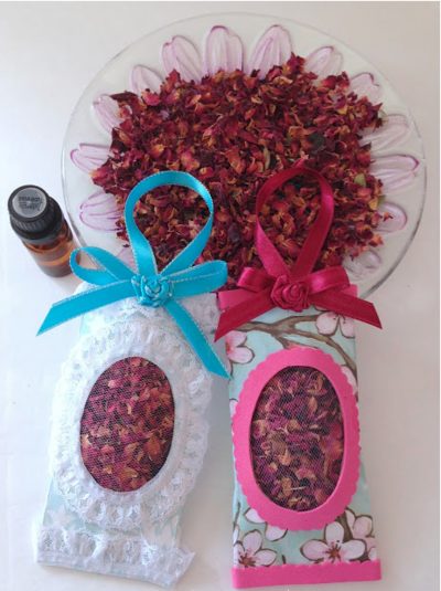 Toilet Paper Roll DIY Rose Scented Sachets
