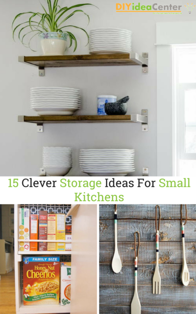 15 Clever Storage Ideas For Small Kitchens | DIYIdeaCenter.com