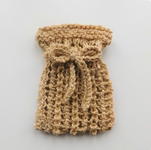 Knitted Net Gift Pouch