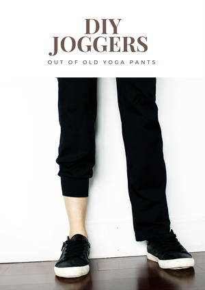 Turn Old Yoga Pants Into DIY Joggers