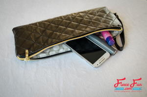 Quilted Leather Clutch Tutorial
