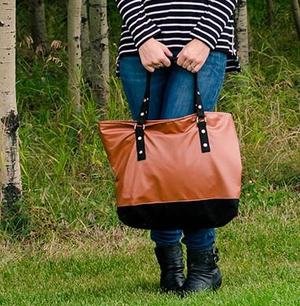 DIY Faux Leather Tote Bag