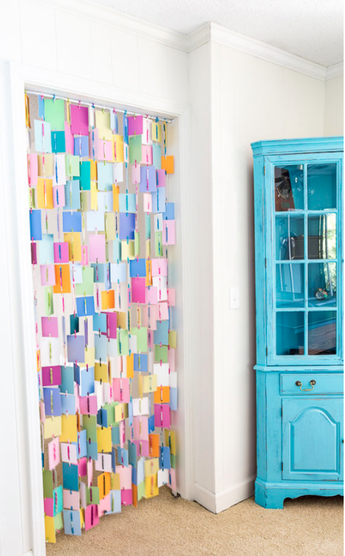 Paint Color Samples DIY Curtain