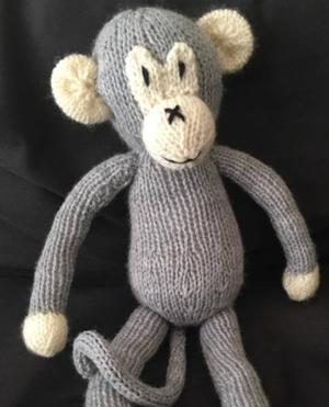 Knit Monkey Toy