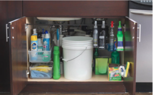 Under Kitchen Sink Organization Idea Diyideacenter Com