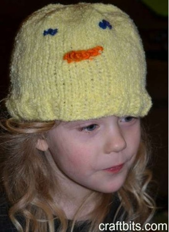 Chick Hat for Kids