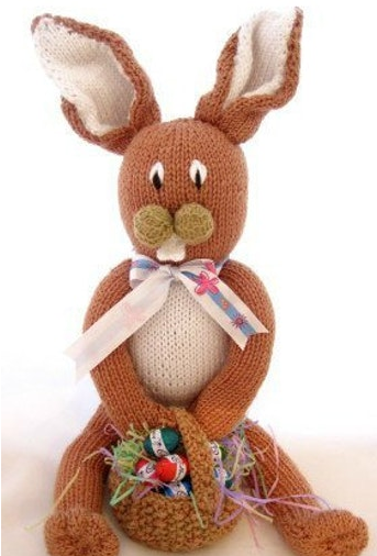 Knitted Long Legged Easter Bunnu
