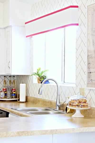 DIY Faux Backsplash