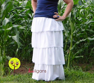 Riveting Ruffles Maxi Skirt Pattern
