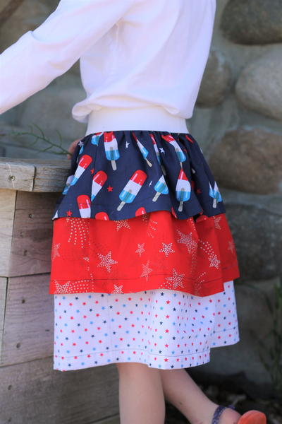 3 Tiered Ruffle Skirt