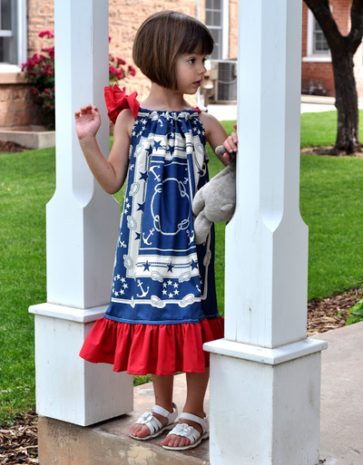 Patriotic Pillowcase Dresses