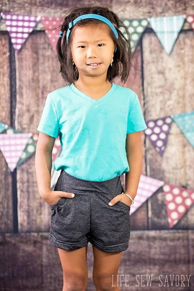 Girls Free Shorts Pattern