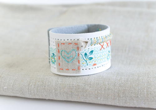 DIY Stitchable Cuff Embroidery Pattern