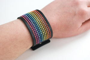 Rainbow DMC Stitchable Cuff Pattern