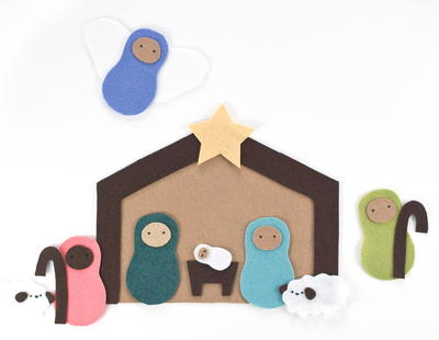 8c4a427fa3df8 Felt Nativity Scene Playset Pattern