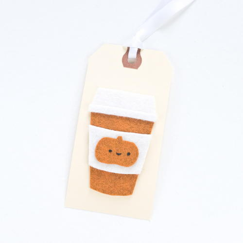 Pumpkin Spice Latte DIY Gift Tag Applique