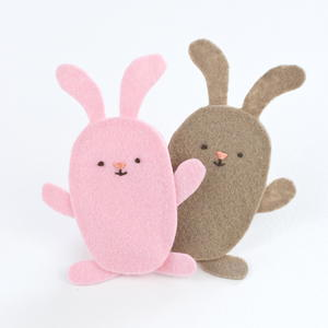 Bouncing Bunny Finger Puppet Pattern
