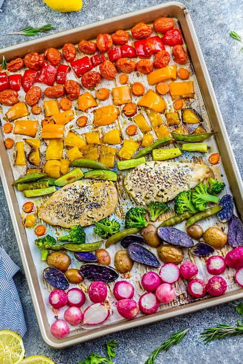 Lemon Herb Chicken Sheet Pan with Veggies
