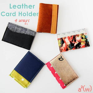 Four Leather Card Holder Patterns