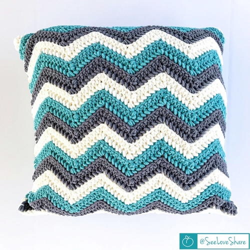 Crochet Chevron Pillow