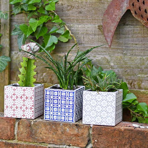 Gorgeous Simple 10 Minute Moroccan Tile Planters