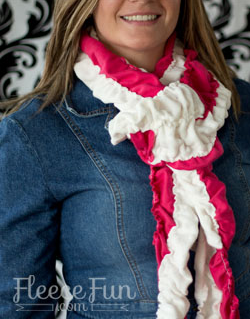 Candy Stripe Scrunch Scarf Tutorial
