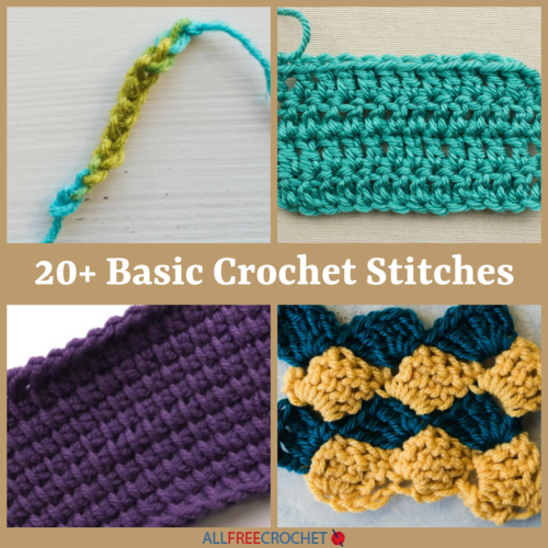 Crochet Stitches Allfreecrochetcom