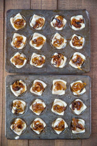 Copycat Trader Joes Caramelized Onion Feta Pastry Bites
