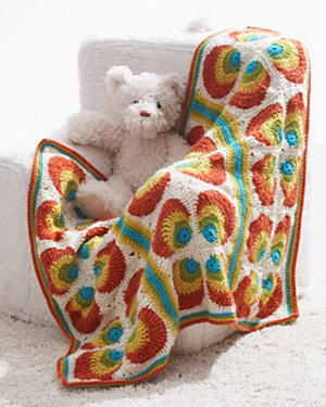 Retro Rainbow Baby Blanket