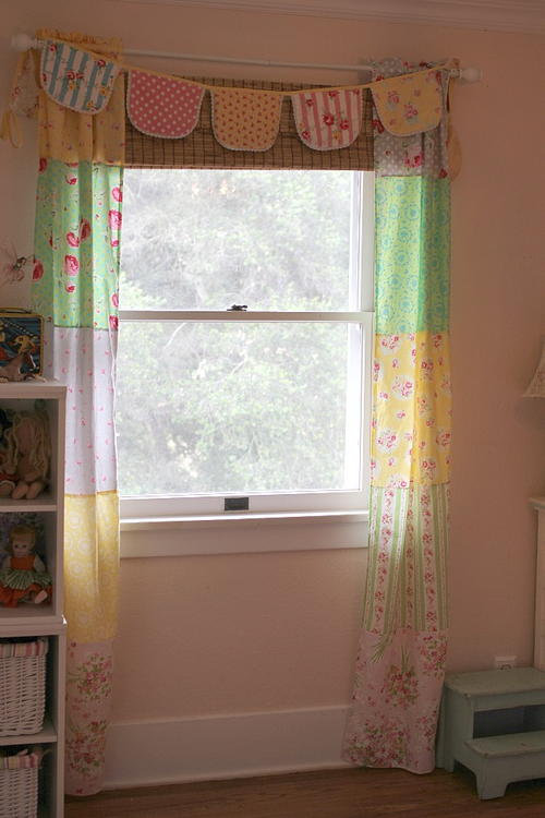 Fat Quarter Patchwork Curtains