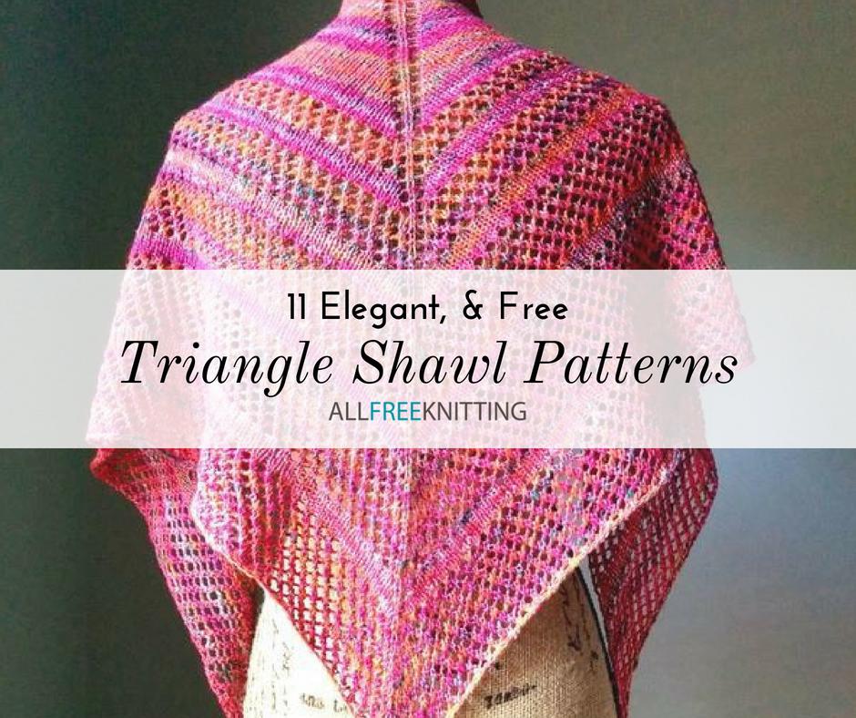 11 Triangle Shawl Knitting Patterns (Free ...