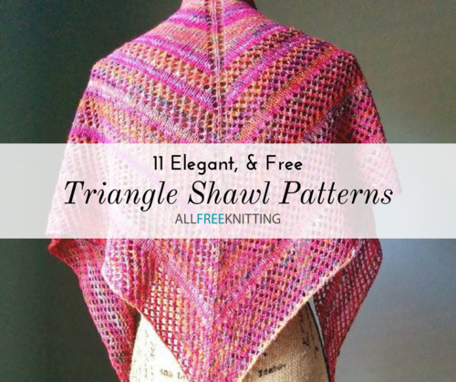 11 Triangle Shawl Knitting Patterns Free Allfreeknitting Com