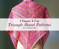 11 Elegant Knit Triangle Shawl Patterns